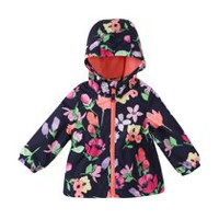 George Toddler Girls' Lined Windbreaker Navy 5T
