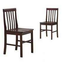 Walker Edison Espresso Wood Dining Chair