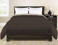 Grey Label Reversible Chocolate Brown Comforter Twin