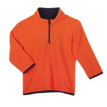 Athletic Works Boys' Popover Fleece Sweater Orange 5