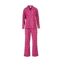George Women's 2-Piece Notch Collar Pyjama Set Pink L