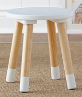 Mainstays Kids Round Stool White