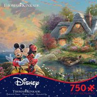 Ceaco - Thomas Kinkade - Disney Dreams Collection: Mickey and Minnie (750 Piece Puzzle)