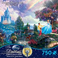 Ceaco - Thomas Kinkade - Disney Dreams Collection: Cinderella Wishes Upon a Dream Puzzle (750 Piece Puzzle)