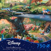 Ceaco - Thomas Kinkade - Disney Dreams Collection: Alice in Wonderland (750 Piece Puzzle)