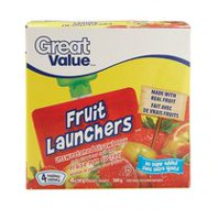 Great Value Unsweetened Strawberry Fruit Launchers Fruit Snacks