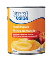 Great Value Peach Halves in Fruit Juice from Concentrate