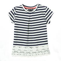 George Toddler Girls' Top with Lace Hem Navy 3T