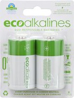 ECO Alkalines D Cell 2-Pack Alkaline Battery