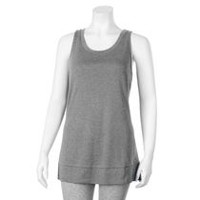 Danskin Now Women's Scoop Neck Tank Grey M