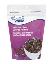 Great Value Milk Chocolate Coated Raisins