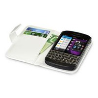 LBT White Lambskin Wallet Case for BB Q10
