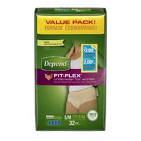 Depend Fit-Flex Women's Maximum Absorbency Underwear Value Pack S/M