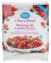 Great Value Frozen 4-Berry Blend