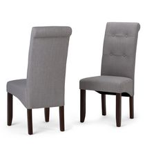 WyndenHall Essex 2 Pack Deluxe Tufted Parson Chair Dove Grey