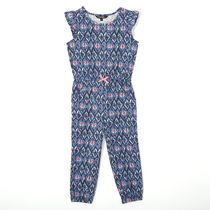 George Toddler Girls' Flutter Sleeved Romper Navy 4T