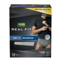 Depend Men's Real Fit Maximum Absorbency Briefs S/M