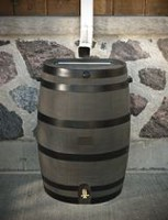 RTS Home Accents Flat Back 50 USG / 190 L Rain Barrel (Deco with brass spigot)