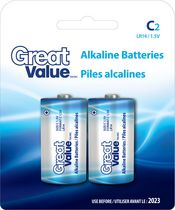C Alkaline Battery 2 Pack
