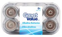 D Alkaline Battery 8 Pack