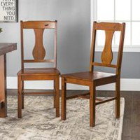 Walker Edison Dark Oak Wood Dining Chair