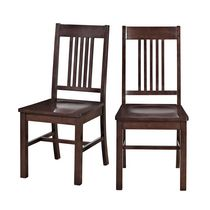 Walker Edison Cappuccino Wood Dining Chair
