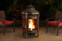 "Sunjoy Brown 62"" Cast Steel Outdoor Fireplace Heating"