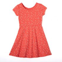 George Girls' Skater Dress Coral L
