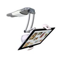 CTA Digital 2-in-1 Kitchen Mount Stand With Bluetooth Speaker