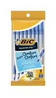 BIC Round Stic Grip Ball Pen Stick BLUE Medium Point 8-Pack