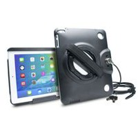 CTA Digital Anti-Theft Case with Built-In Grip Stand for iPad, iPad Air and iPad Air 2