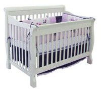 Kidilove Tammy 4-in-1 Convertible Baby Crib Grey Ash