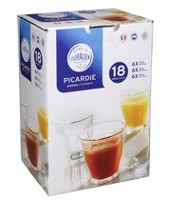 Duralex Picardie Clear 18 Piece Tempered Tumblers Set