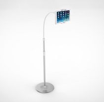 CTA Digital 2-in-1 Flexible Floor Stand & Mount for Smartphones/Tablets with LED Lamp