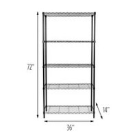 "Honey-Can-Do 5-Tier NSF Rated 14x36x72"" Shelf"