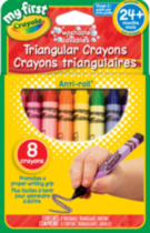 Crayola My First 8 Washable Triangular Crayons