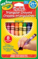 My First 8 crayons triangulaires lavables