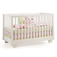Kidilove Modern 4-in-1 Convertible Baby Crib White