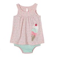 George baby Girls' Fooler Dress Bodysuit 6-12 months