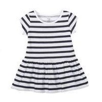 George Toddler Girls' Dropped Waist Dress Navy 4T