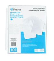 @ The Office Sheet protector 10Pk