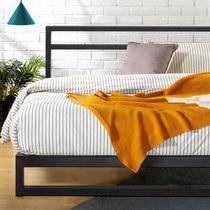 Zinus Trisha Metal Platforma Bed Frame / Wood Slat Support / No Box Spring Needed / Easy Assembly