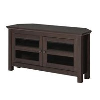 Walker Edison Espresso Wood Corner TV Media Stand Storage Console