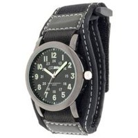 Globlu Mens Black Fatback Fastwrap Easy Read Analog Watch