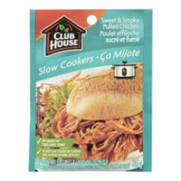 Club House Slow Cookers Seasoning Mix for Sweet & Smoky Pulled Chicken