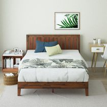 ZINUS Vivek Deluxe Wood Platform Bed Frame with Headboard / Wood Slat Support / No Box Spring Needed / Easy Assembly