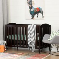 South Shore Fundy Tide Crib with Toddler rail Espresso