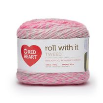 Red Heart Roll with It Tweed Yarn (150 g / 5.29 oz), Popular Pink