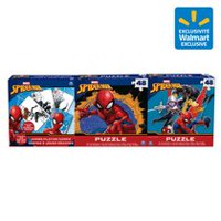 Marvel's Spider-Man - 3-Pack Bundle - Two 48-Piece puzzles and Jumbo Playing Card Set