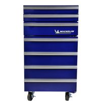 Koolatron® Michelin® Tool Chest Compact Fridge, 1.8 Cubic Foot / 50 L, Blue, for shop floor, service center, garage, workshop, home, den, games room, cottage, beer, beverages, snacks